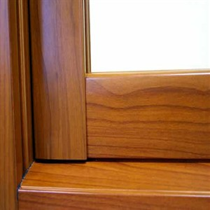 Aluminium Door with Wood Grain Profile ALFB33