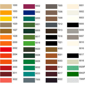 Marpol Powder Coating Colors